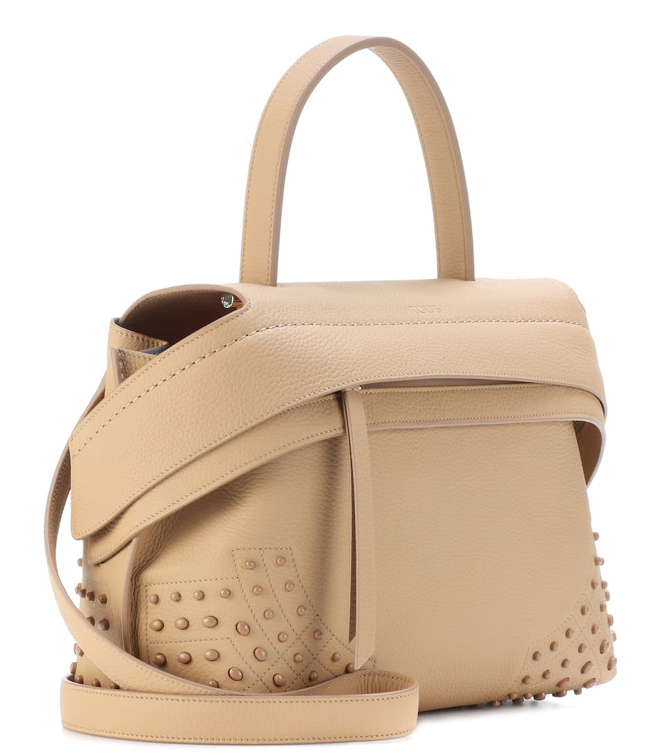 Manchester Cheap Online Cheap Price Original Tod's Wave Small leather tote Beige Cheap Visa Payment Best Sale Cheap Price VMluoq