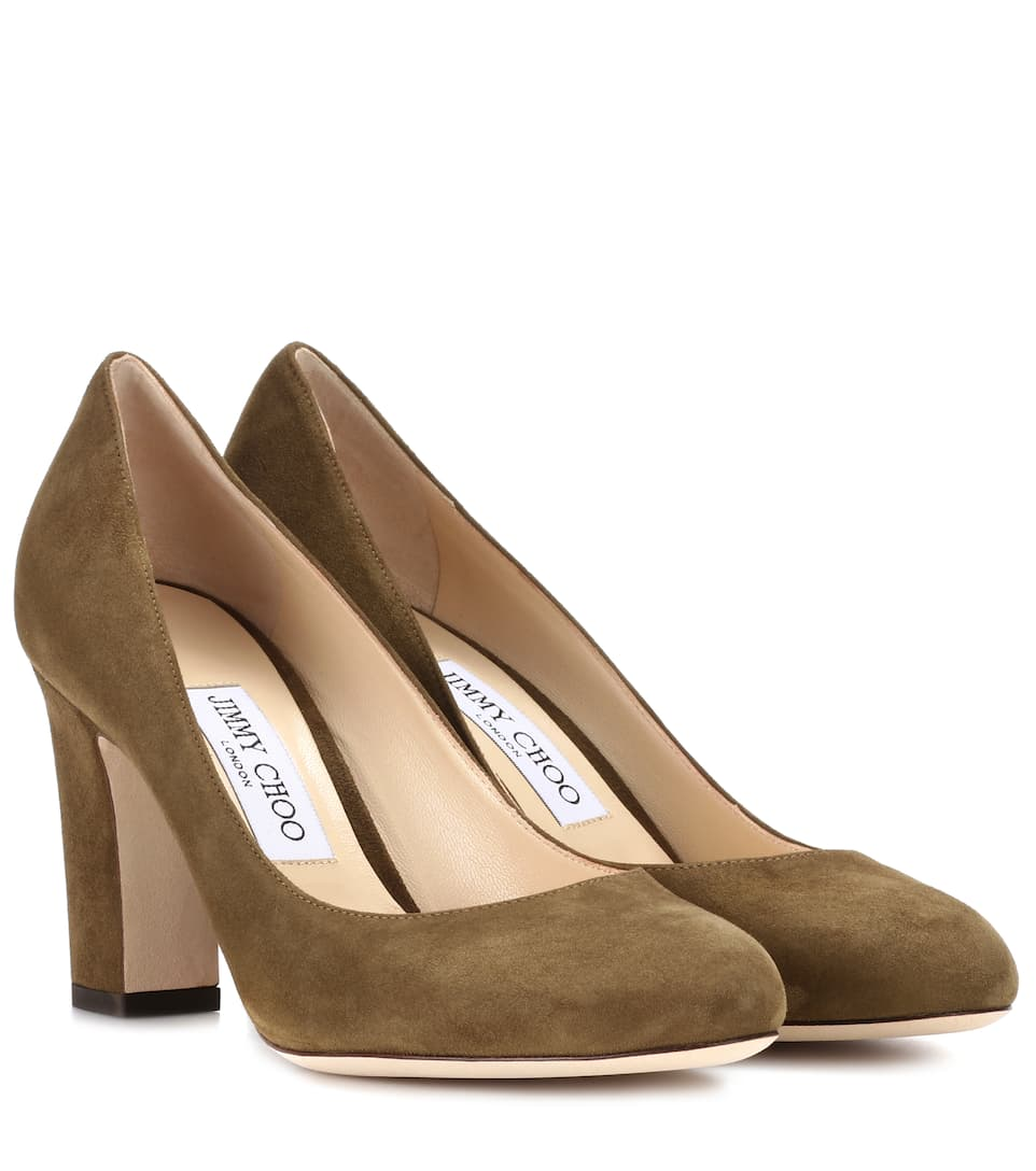4e1f30008f96 Jimmy Choo - Billie 85 suede pumps