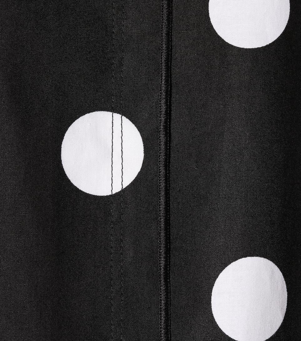 Blanco algodón lunares elástico Jacobs de de Negro Vestido Marc 8OqBvv