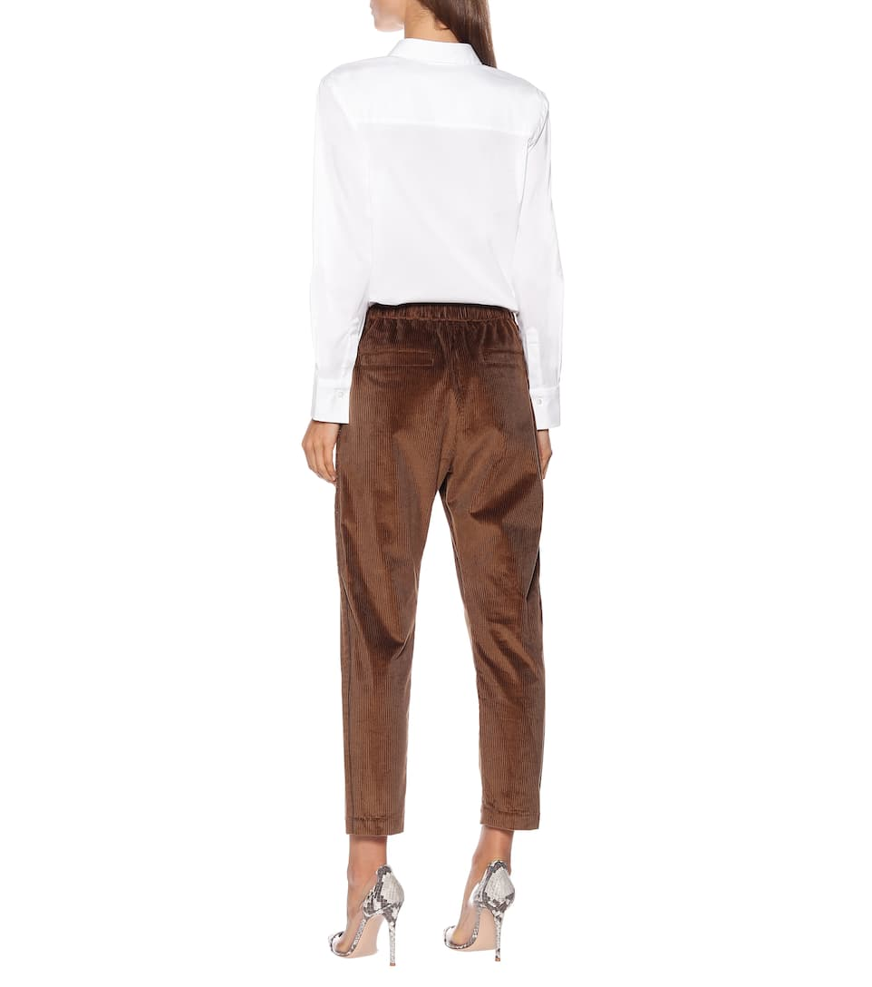 Brunello Cucinelli - Cropped corduroy-blend pants