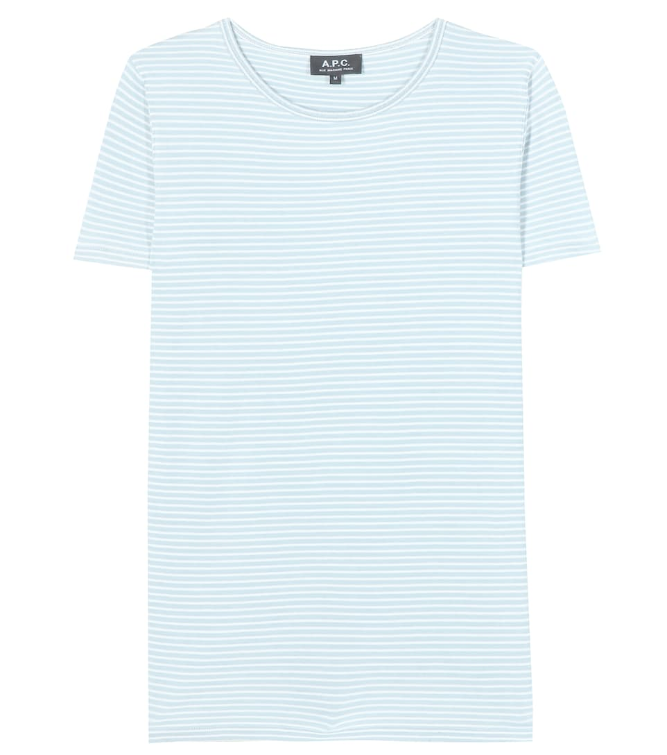 A.P.C. Helen printed striped cotton T-shirt