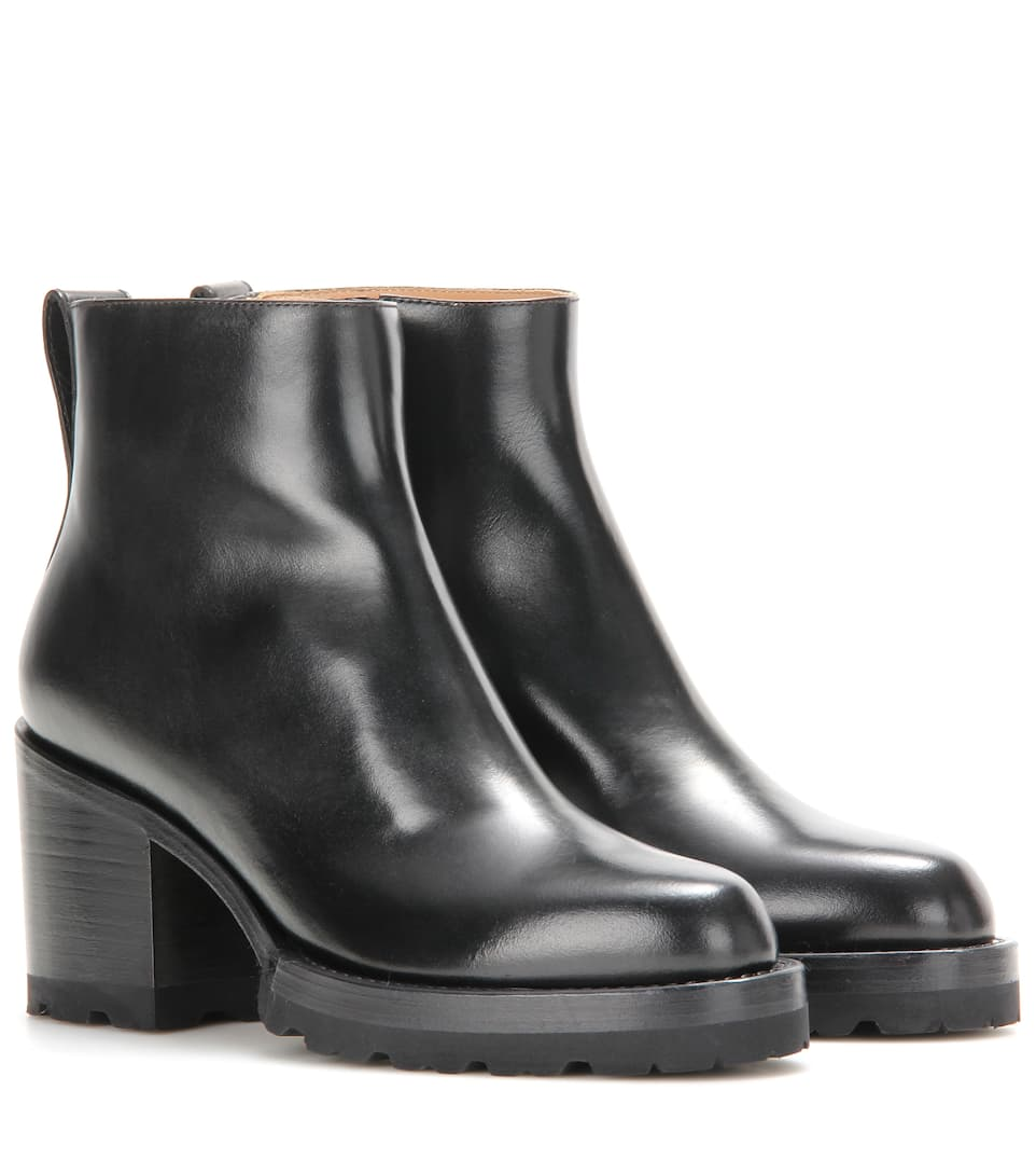 Dries Van Noten Ankle Boots aus Leder