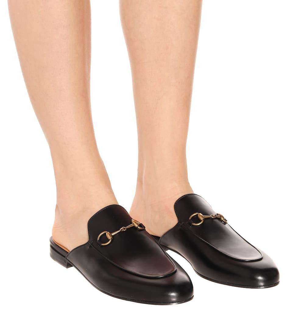 Nicekicks Rabatt Großhandel Gucci Leder-Slippers Princetown Wie Viel Zu Verkaufen Genießen Günstig Online 8nzCqab