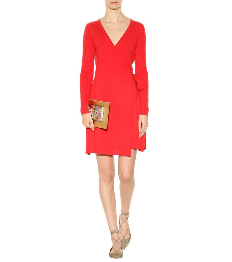 8423cb20a56c Diane von Furstenberg - Kerry wool and cashmere wrap dress   Mytheresa