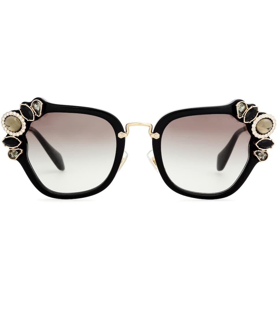 70160b2c2f86 Miu Miu - Embellished sunglasses