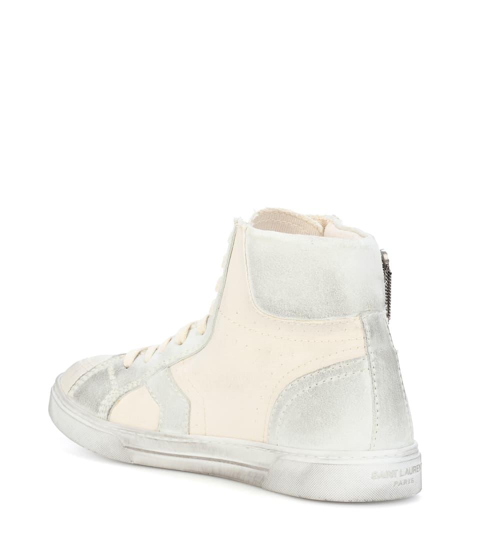 Saint Laurent Sneakers Joe aus Canvas und Veloursleder