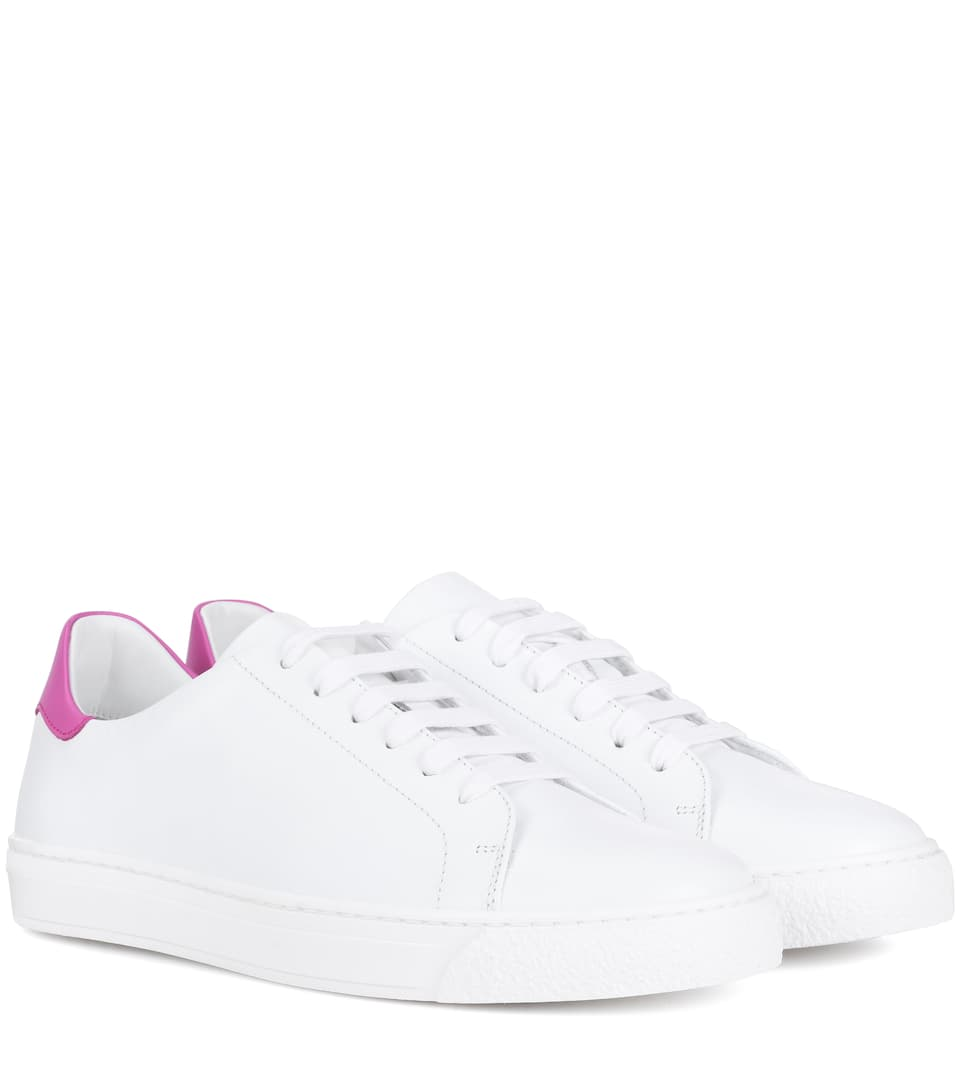 Wink Leather Sneakers, White