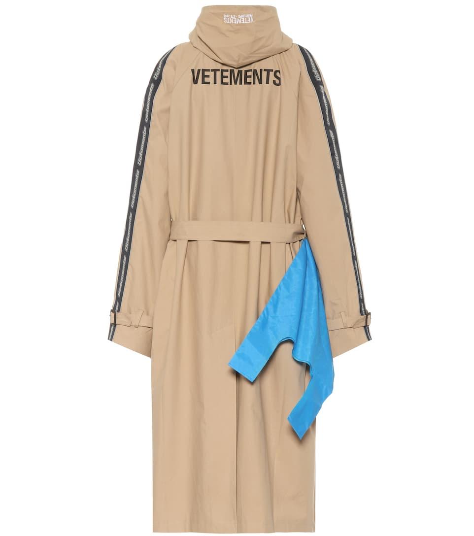 Vetements Bedruckter Trenchcoat mit Wollanteil