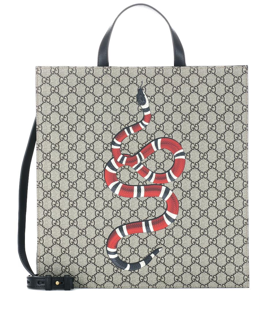 6f4cb1badf Shopper A Stampa In Tessuto | Gucci - mytheresa.com