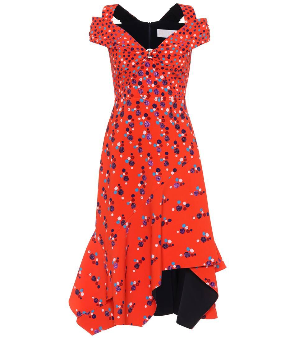 Peter Pilotto Bedrucktes Kleid mit Volants
