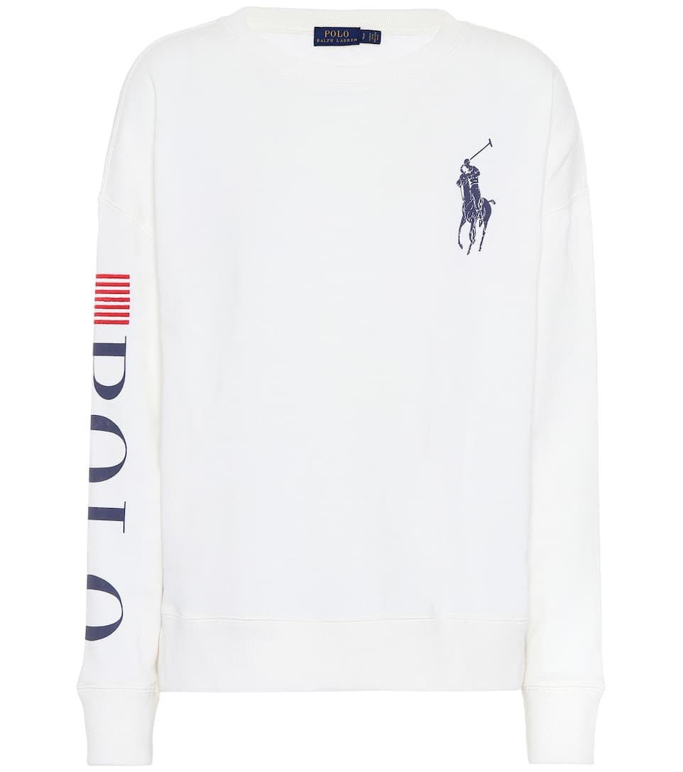 Embroidered Cotton Blend Sweater by Polo Ralph Lauren