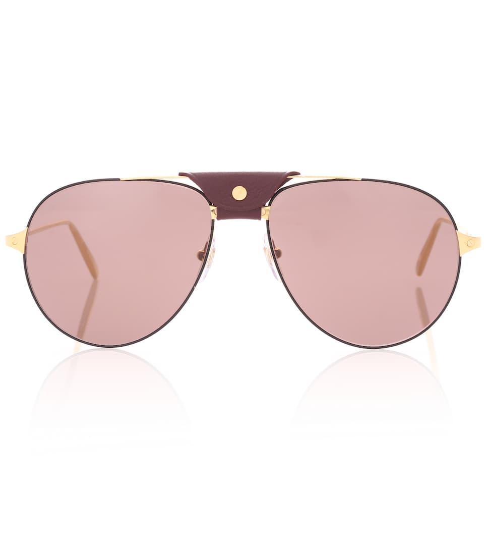 3d2ade6d1d Santos De Cartier Aviator Sunglasses - Cartier Eyewear Collection ...