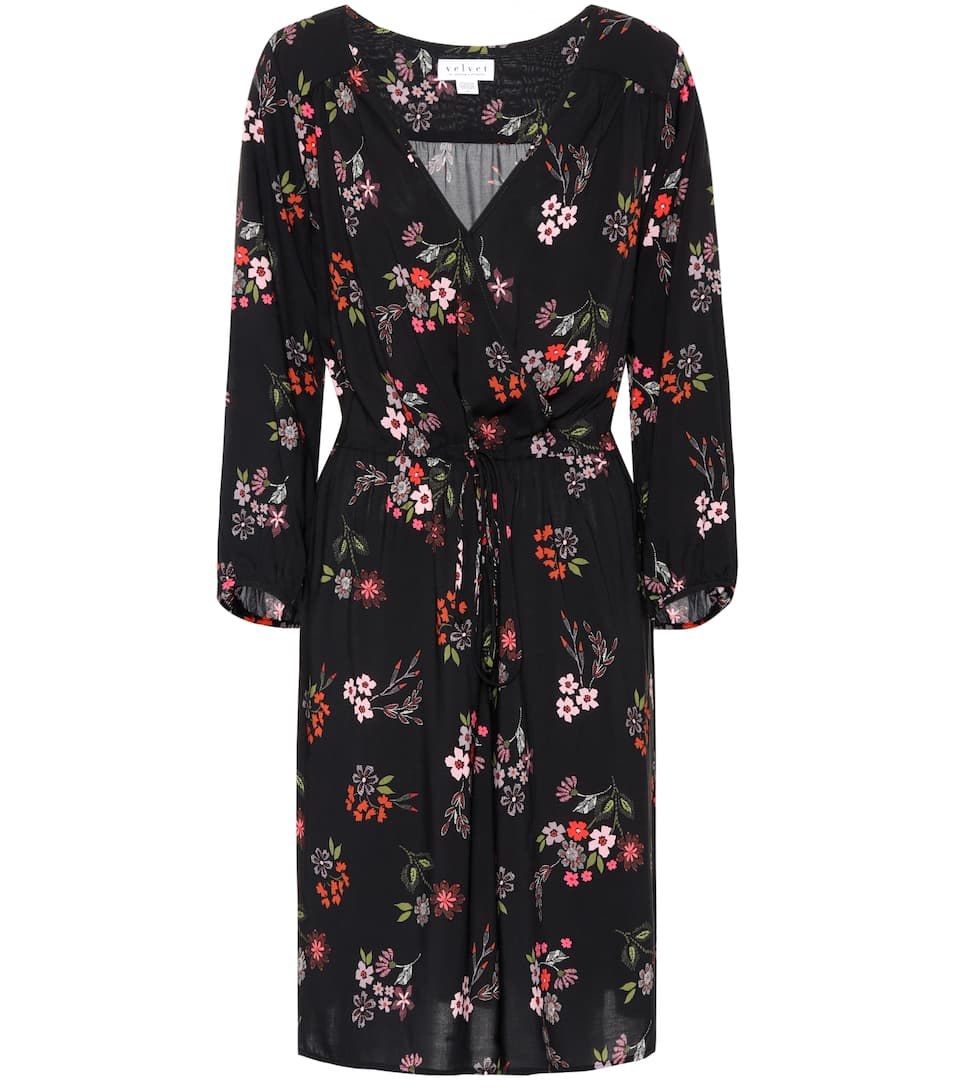 DANAY SPRING FLORAL CHALLIS BUTTON UP DRESS