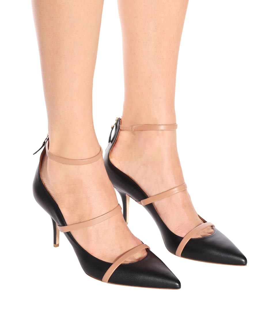 Malone Souliers Robyn 70 leather pumps Black/Nude Free Shipping Wholesale Price Outlet Pay With Paypal M6ypln6i