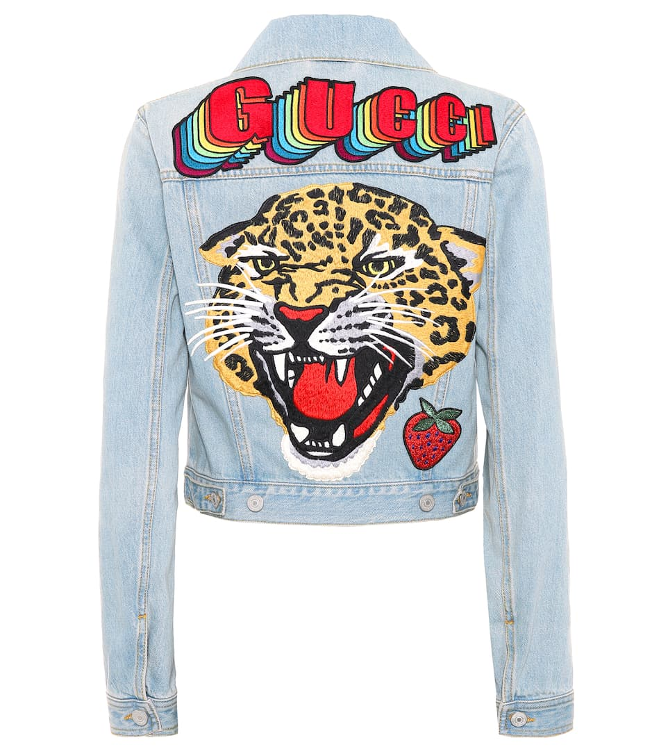 c5a79c6072a Gucci - Embroidered denim jacket