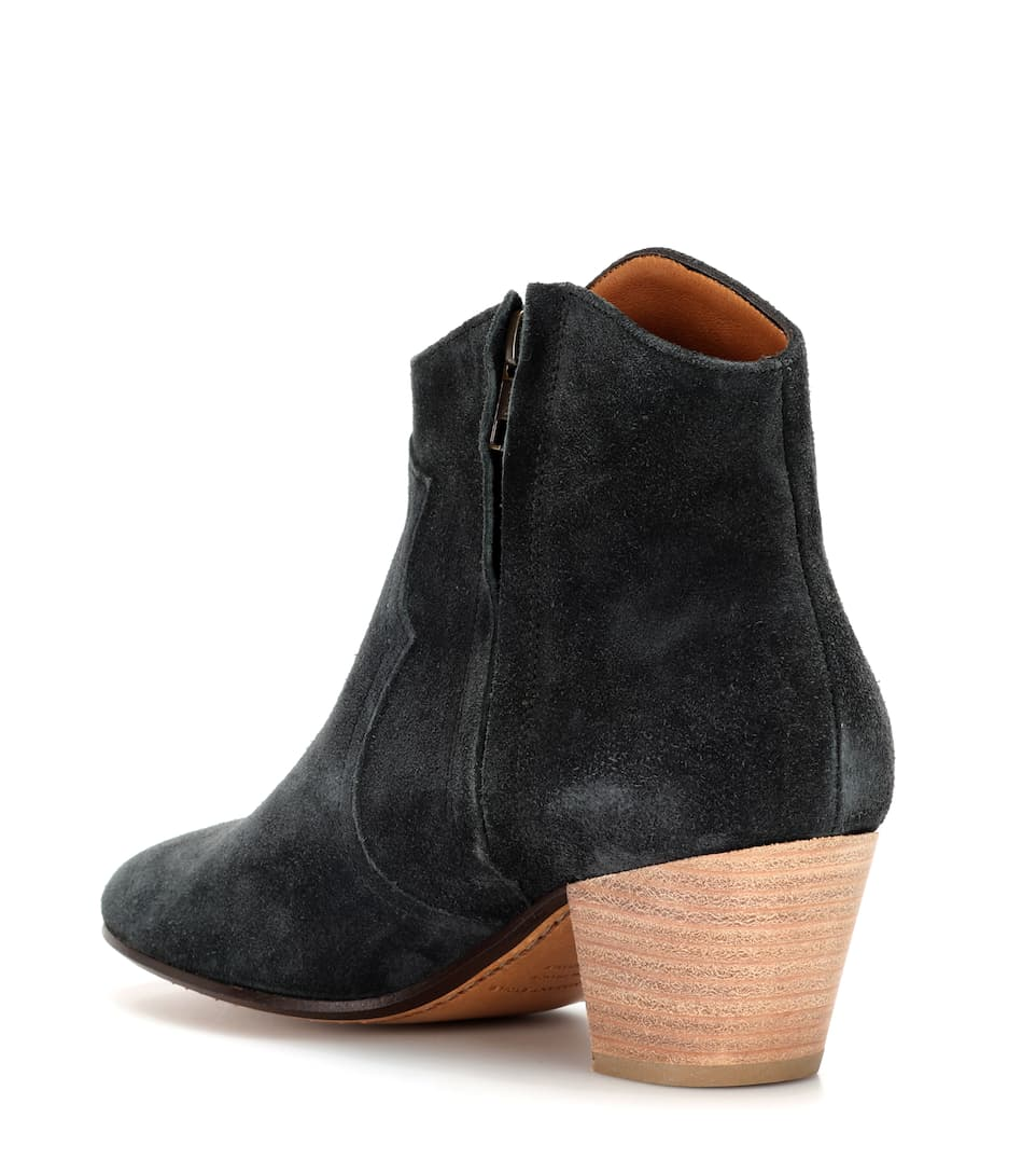 Isabel Marant Dicker suede ankle boots Faded Black Sale 100% Authentic Cheap Sale Latest Collections Cheap Get Authentic Big Discount Cheap Price ejVwgKR7RJ