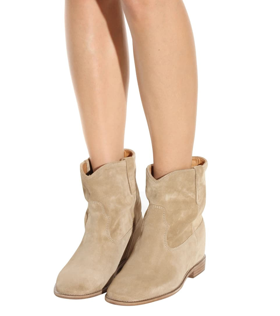 marant 201 toile crisi suede ankle boots mytheresa