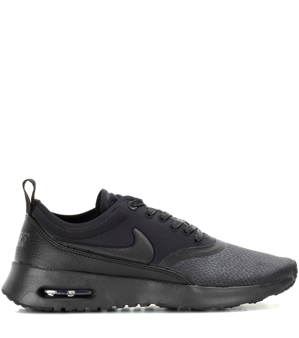 nike air max thea suede trimmed textured knit sneakers in. Black Bedroom Furniture Sets. Home Design Ideas