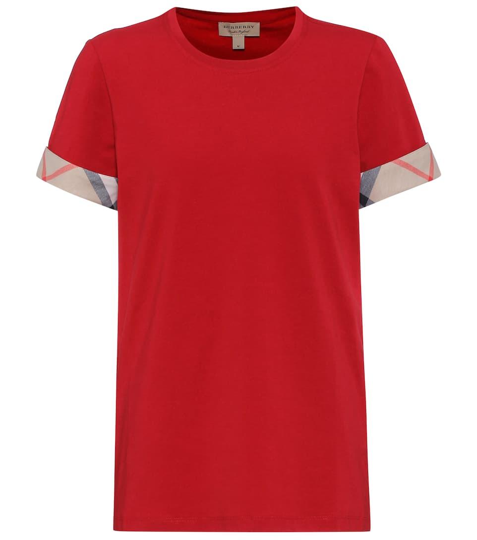 Burberry T-Shirt aus Stretch-Baumwolle