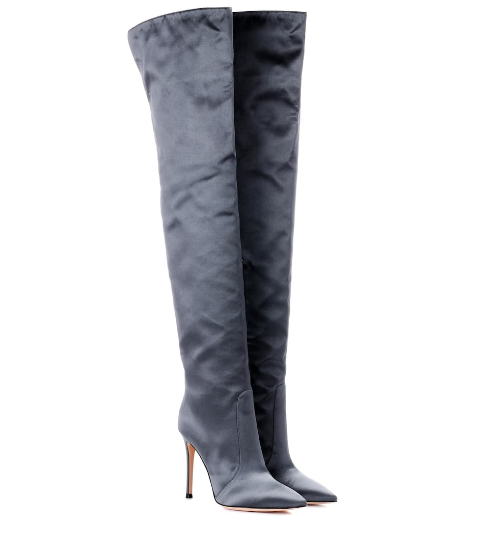 09c3328642f Exclusive To Mytheresa.com – Rennes Satin Over-The-Knee Boots - Gianvito  Rossi
