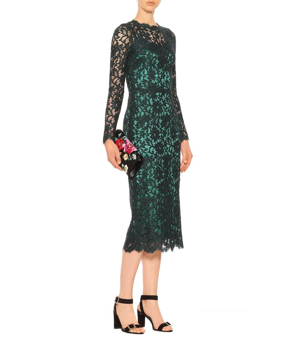 Dolce & Gabbana - Robe en dentelle de coton Ordre La Vente En Ligne TG1tmtm8Jb
