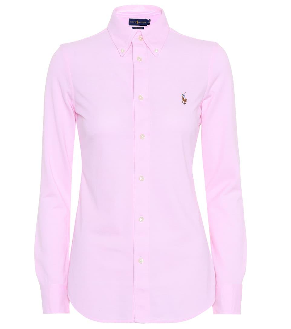 Ralph camisa algodón de Lauren Polo rosa 6Egdqxn