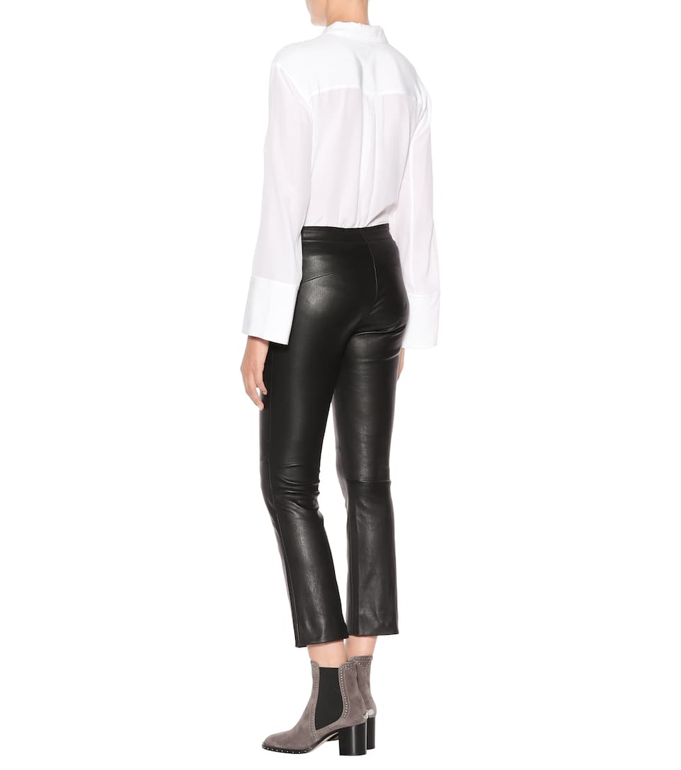 Stouls Cropped Pants Maria Rosa Of Leather