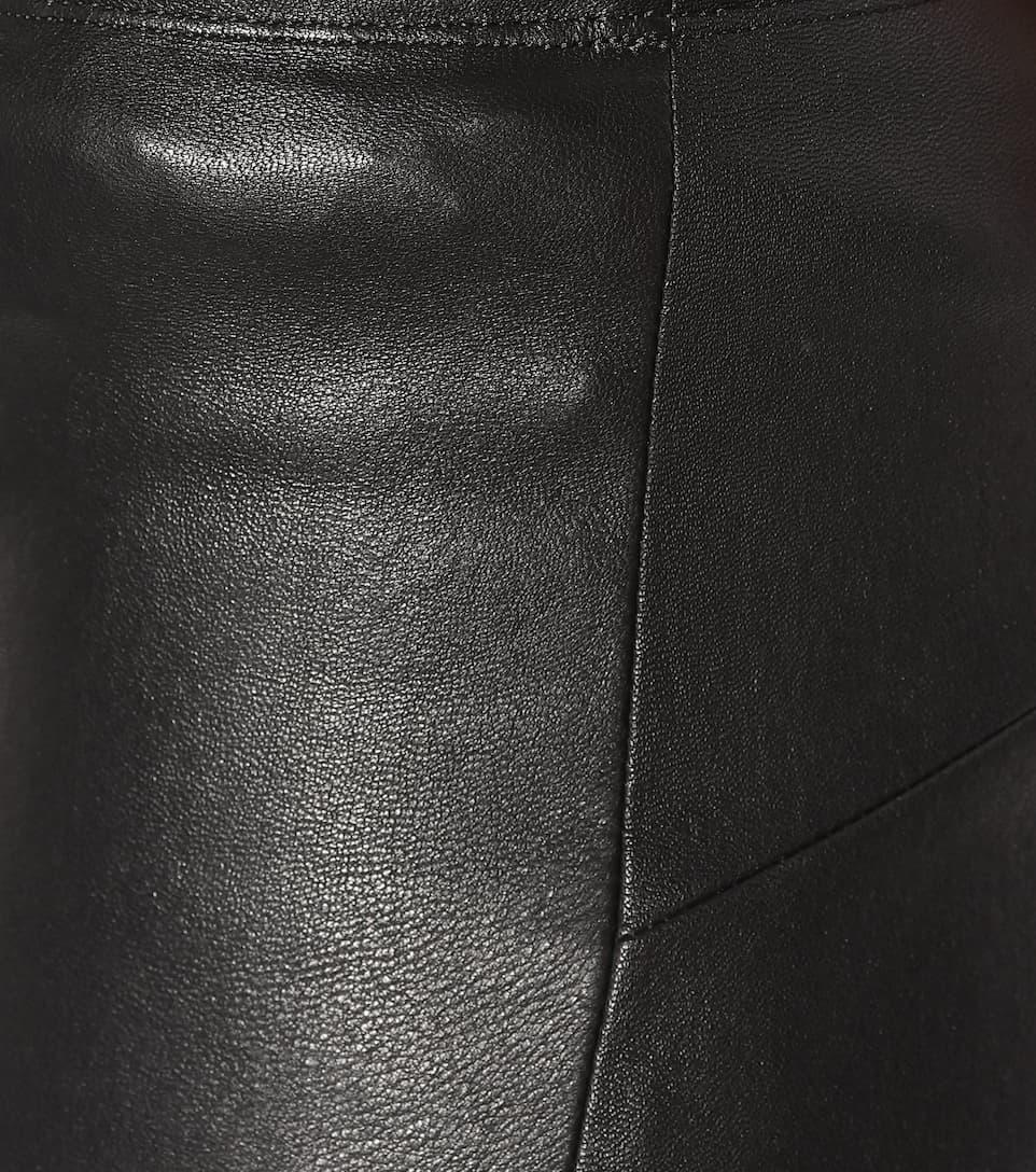 Stouls Cropped Hose Maria Rosa aus Leder