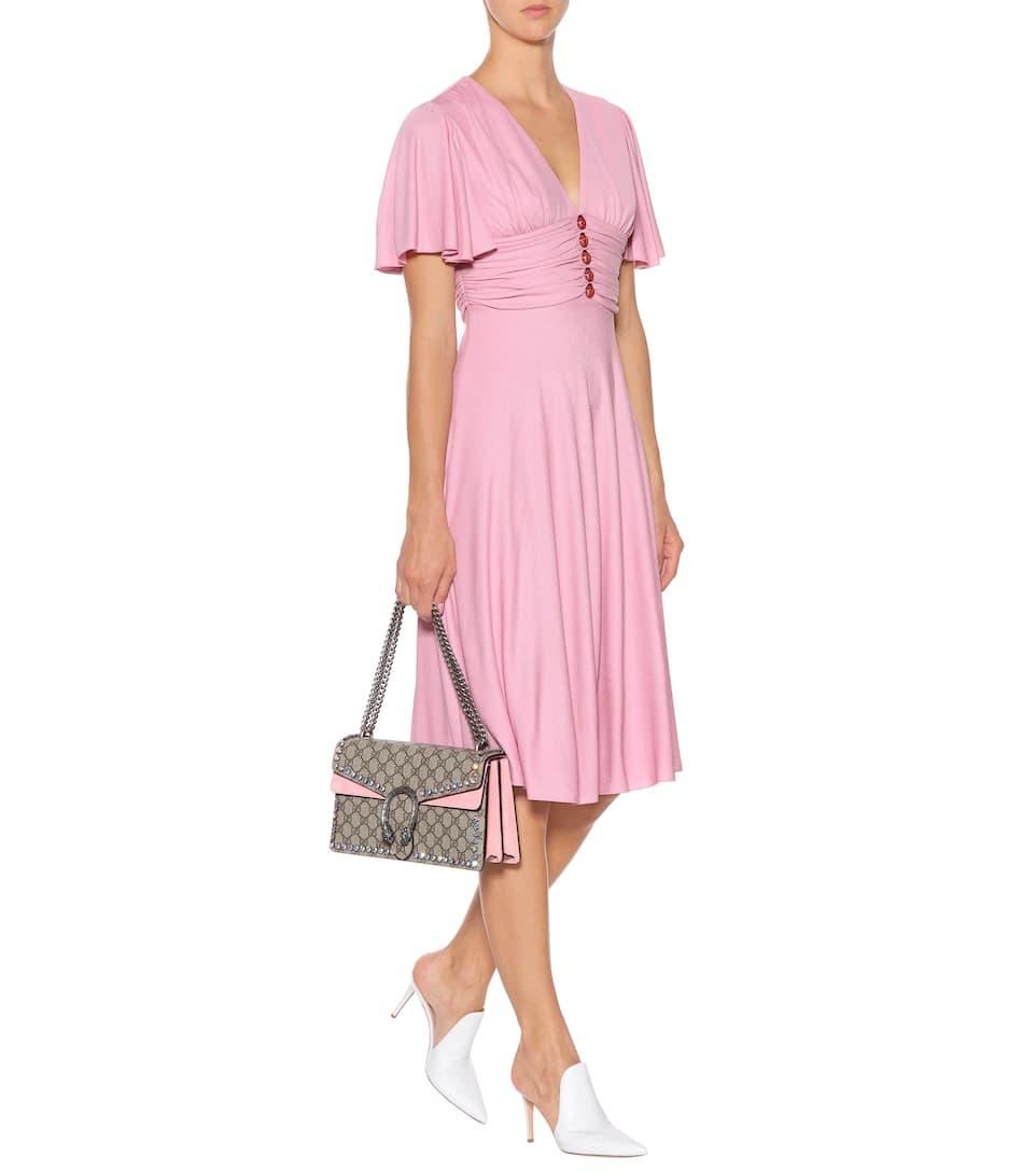 Vestido De Crepé Adornado - Gucci  