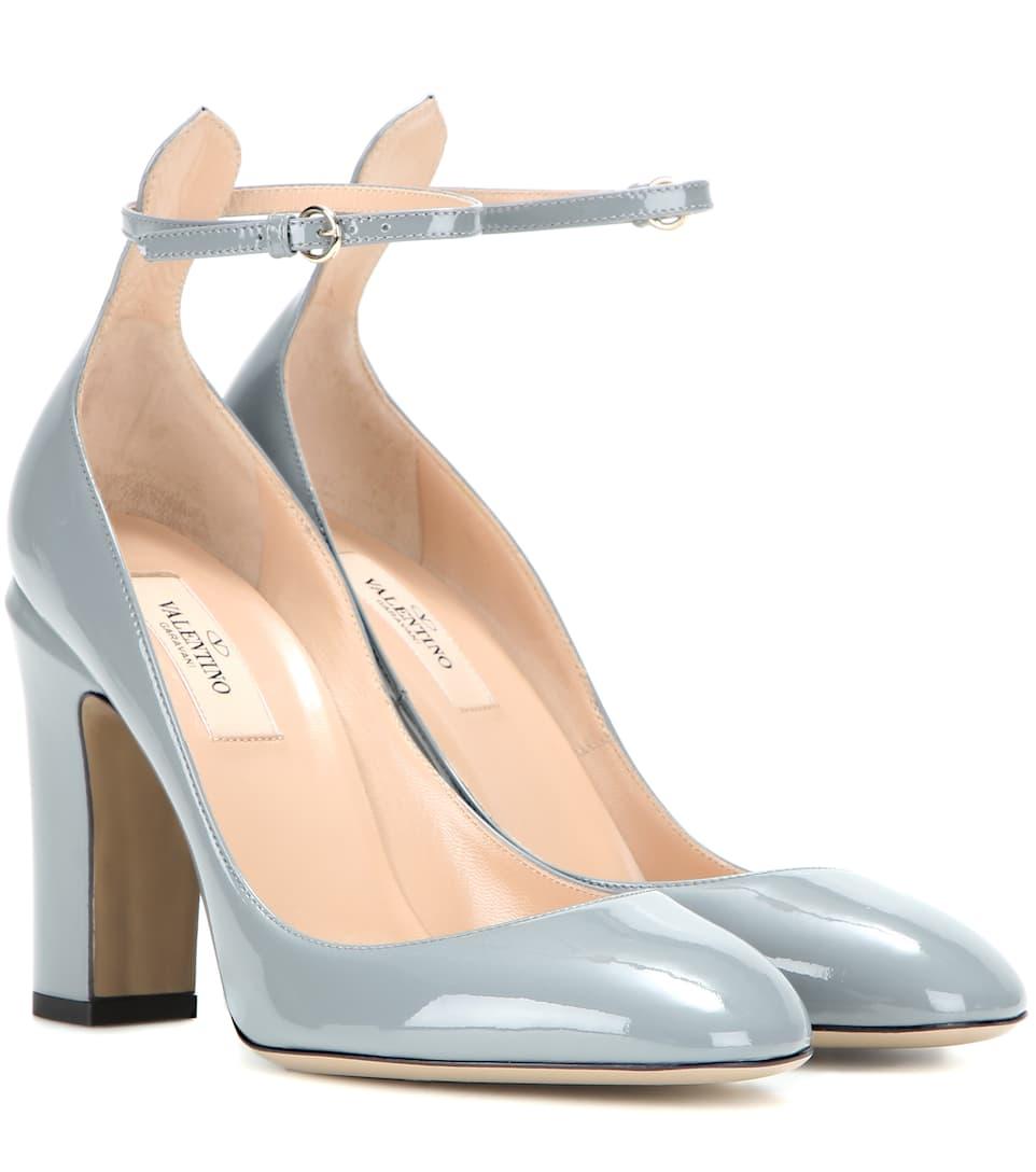 Valentino Garavani Tan-go leather pumps Fake Sale Online VLbgEVTCO5