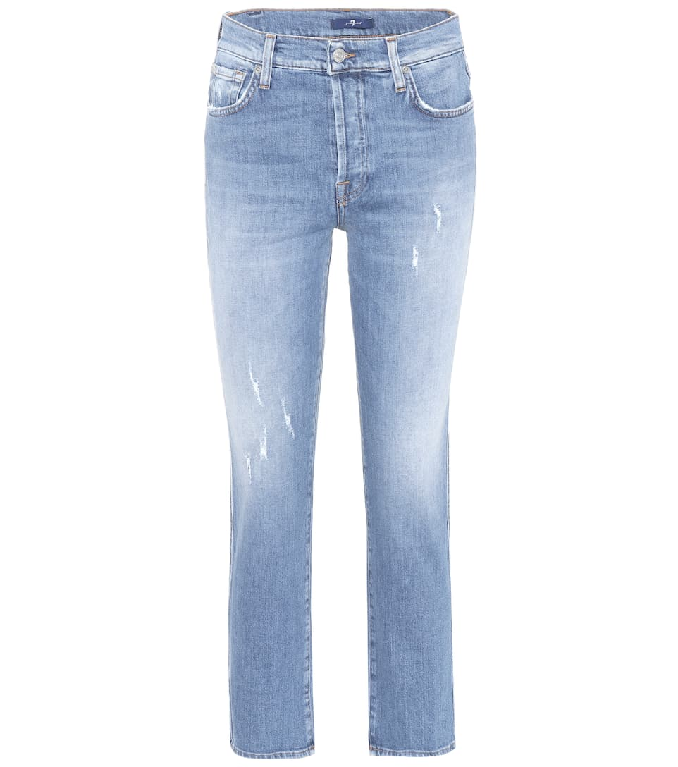 7 For All Mankind High-Rise-Jeans Edie aus Stretch-Denim