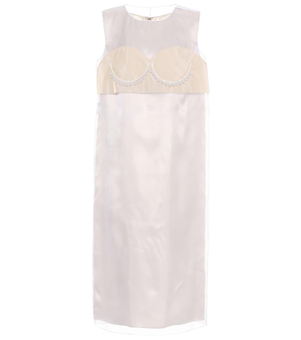 Maison Margiela Verziertes Kleid aus Seide