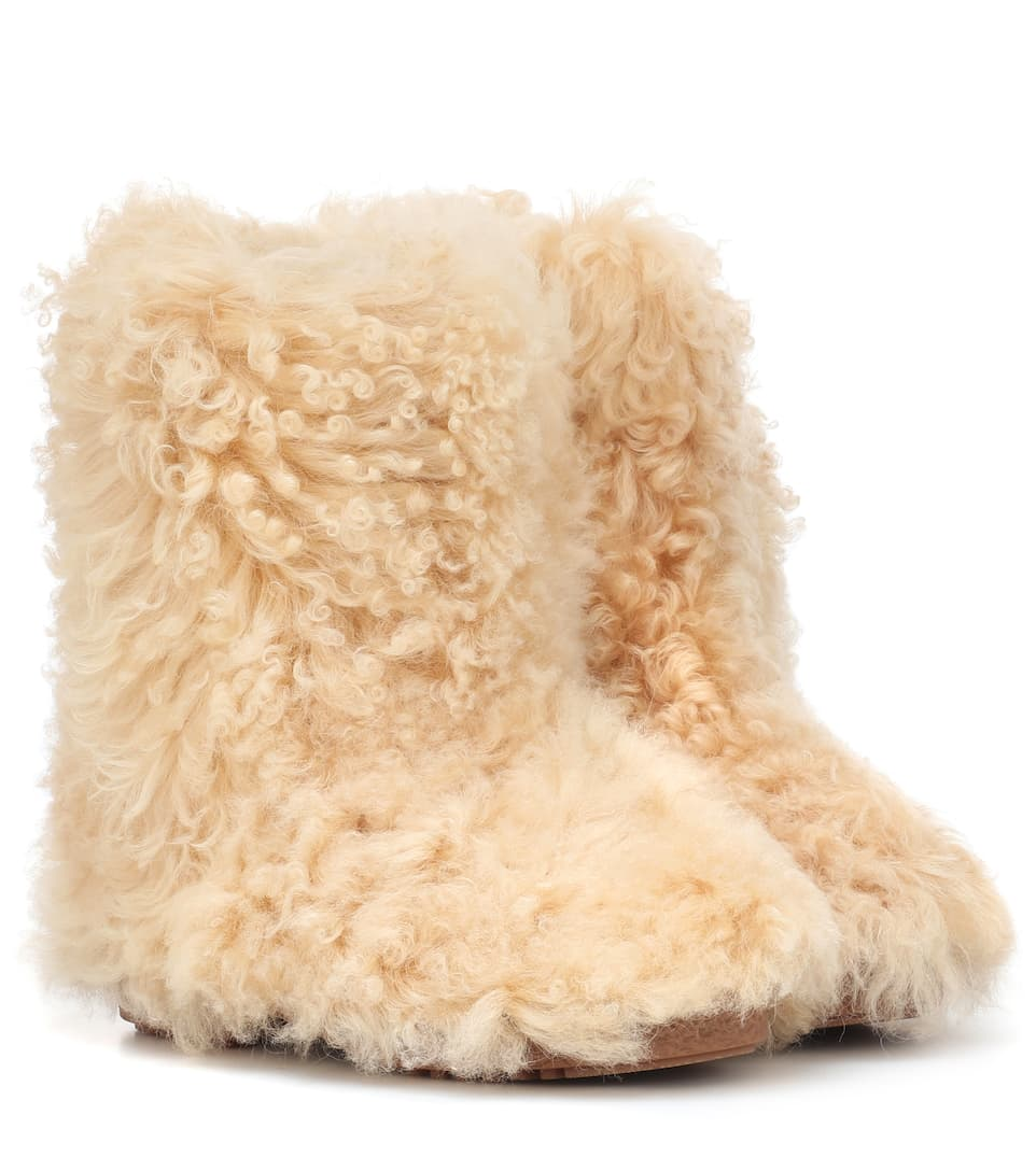 fb545de86f46a Shearling Ankle Boots - Saint Laurent | mytheresa