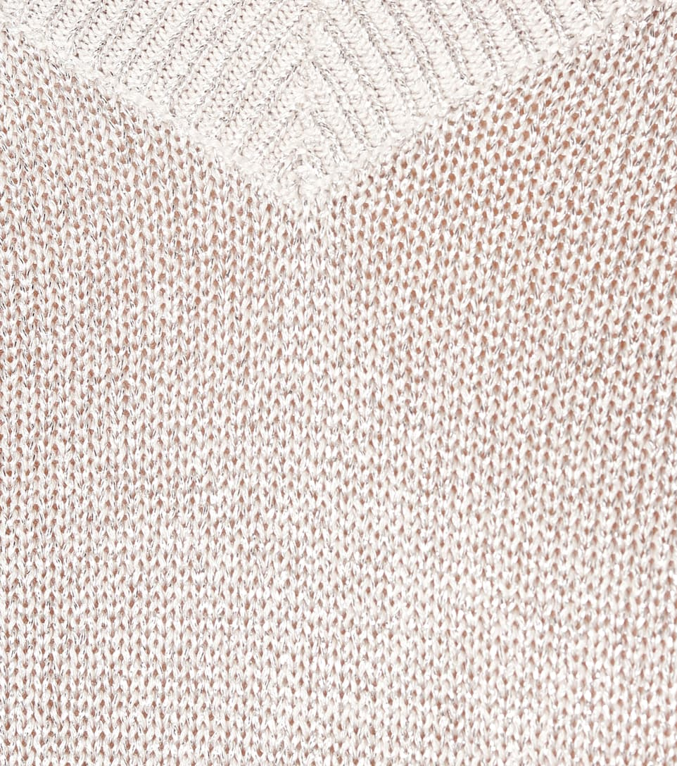 Brunello Cucinelli - Metallic cotton-blend sweater