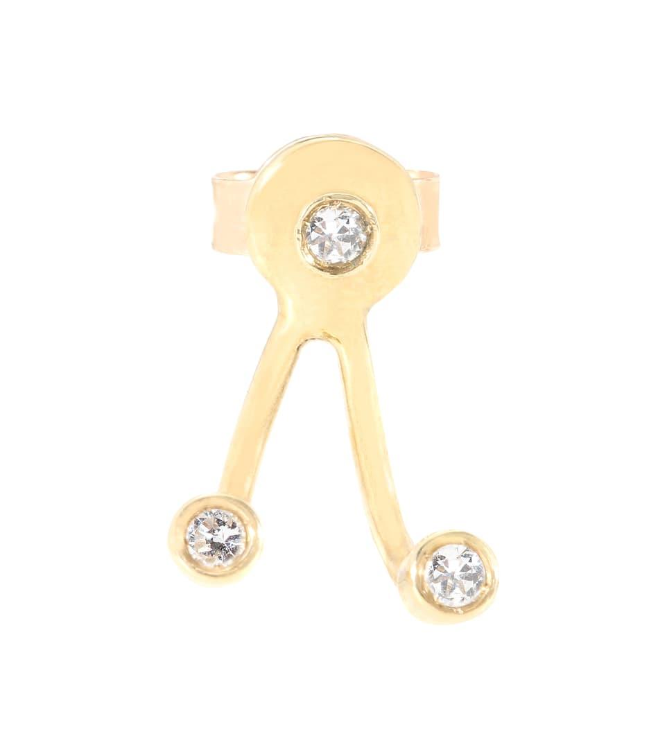 Aliita Trio Brillante 9ct gold and diamond earring