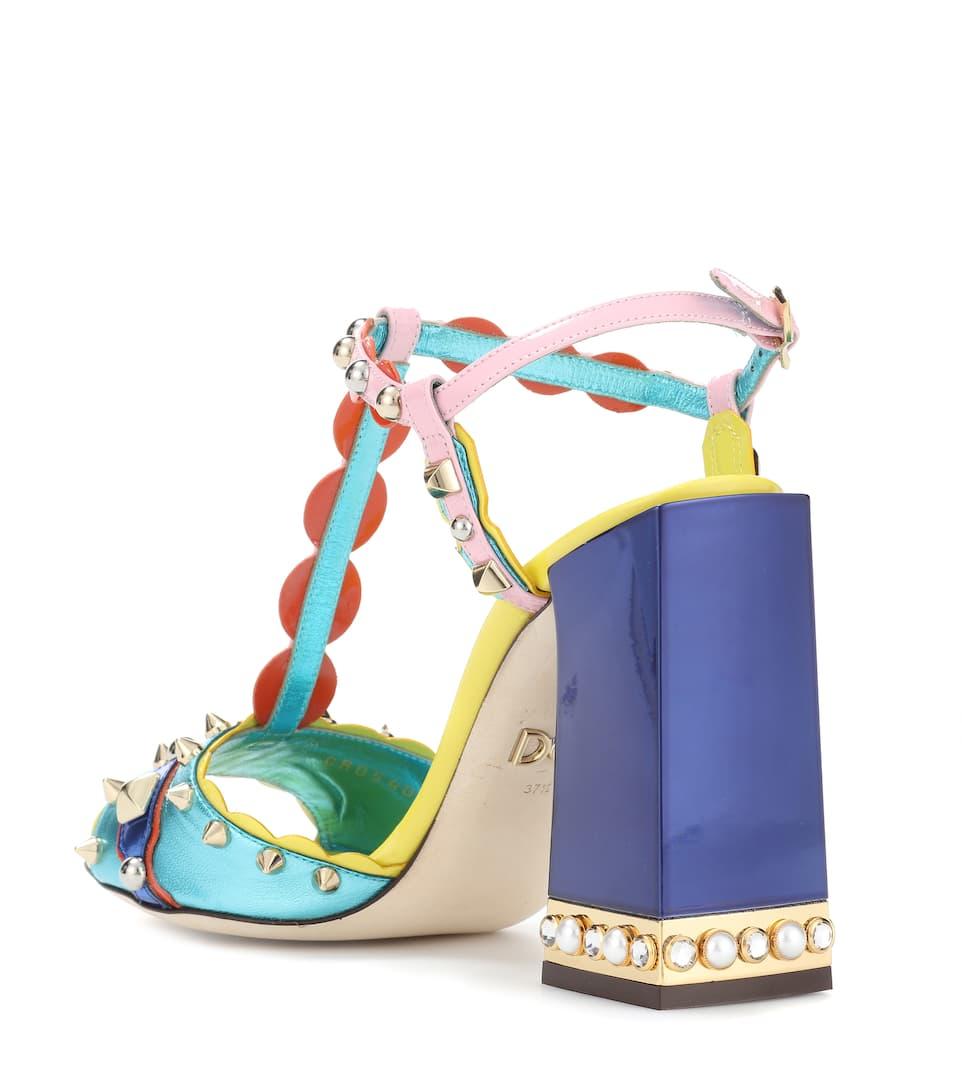 Dolce & Gabbana Verzierte Sandalen aus Leder