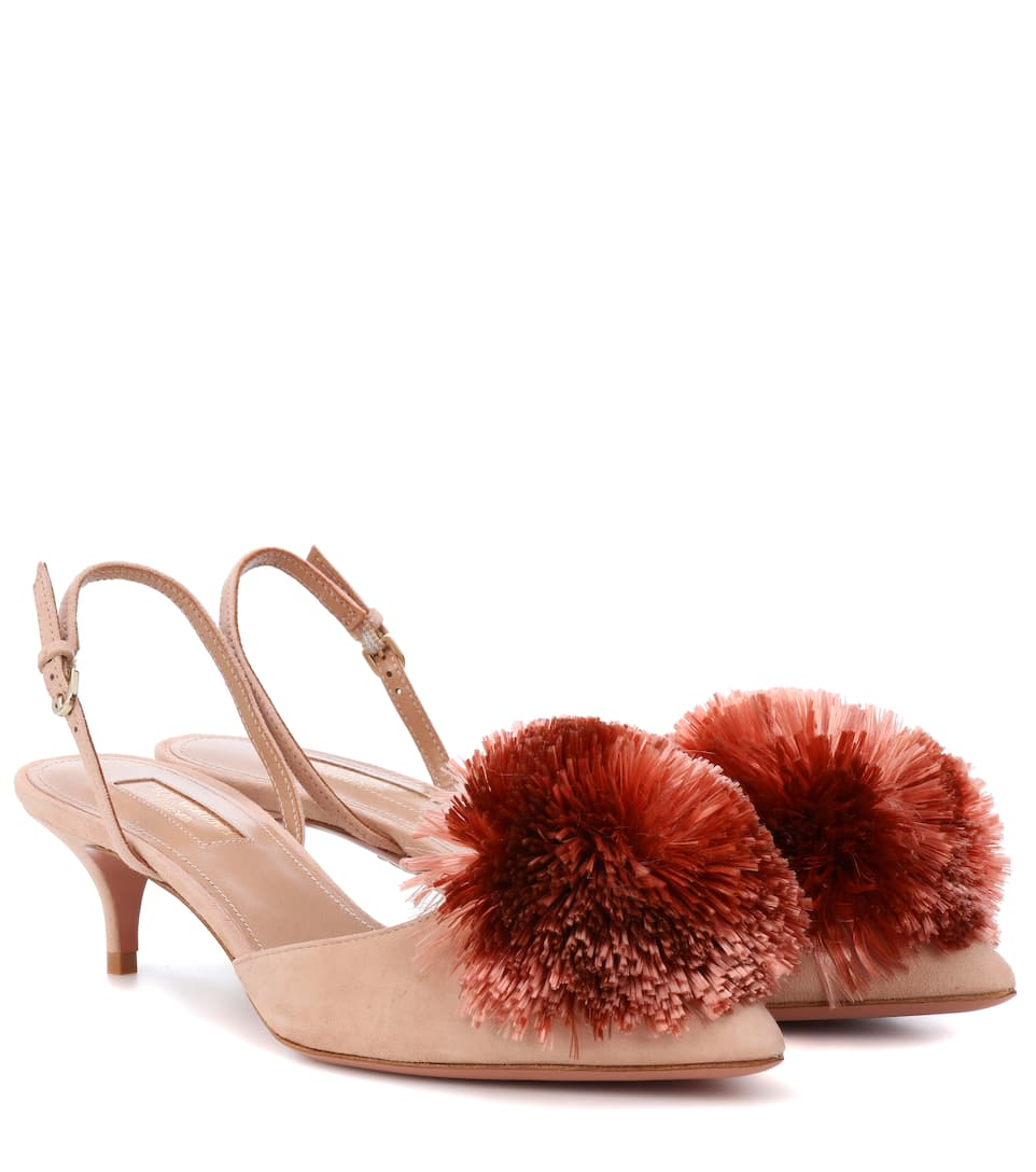 b9f4b21eb9 Powder Puff 45 Slingback Pumps - Aquazzura | mytheresa.com