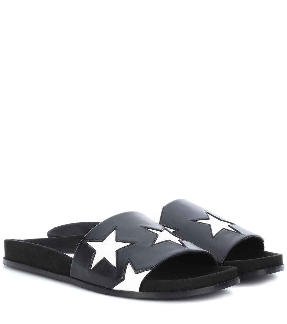 Stella McCartney Faux leather star slides clearance online fake free shipping new styles with credit card free shipping clearance 100% guaranteed mInMO5W
