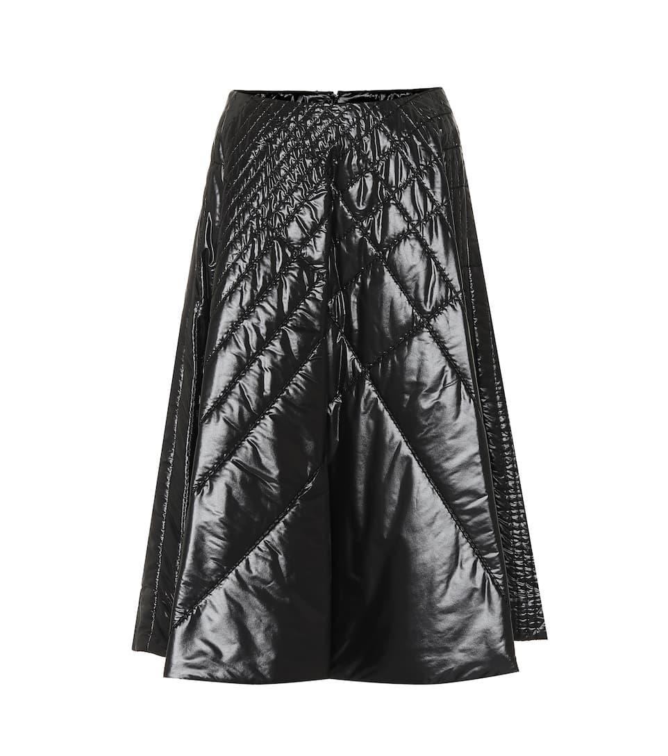 81d286d9a9dd X Noir Quilted Skirt   Moncler Genius - mytheresa.com