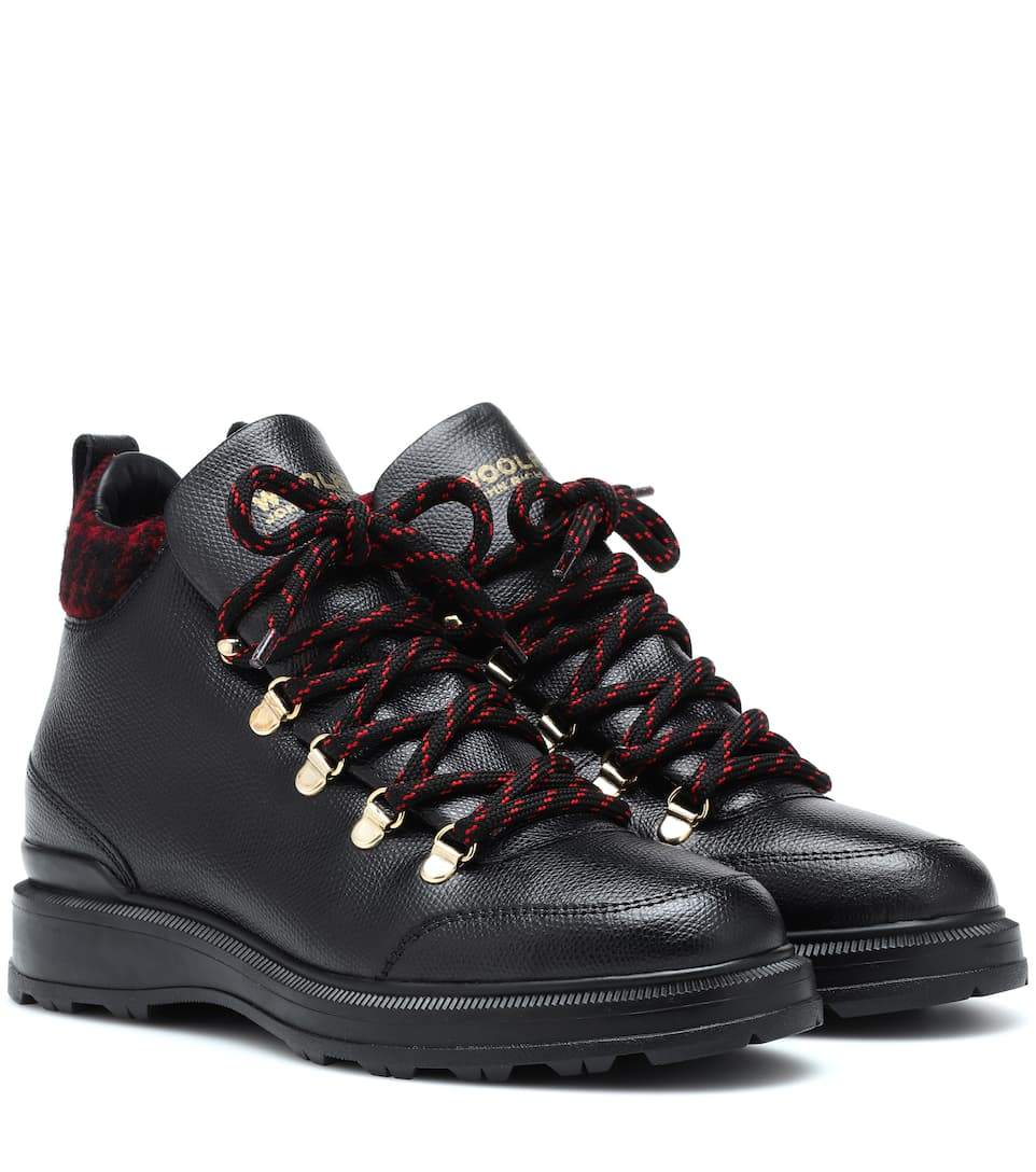 leather-ankle-boots by woolrich