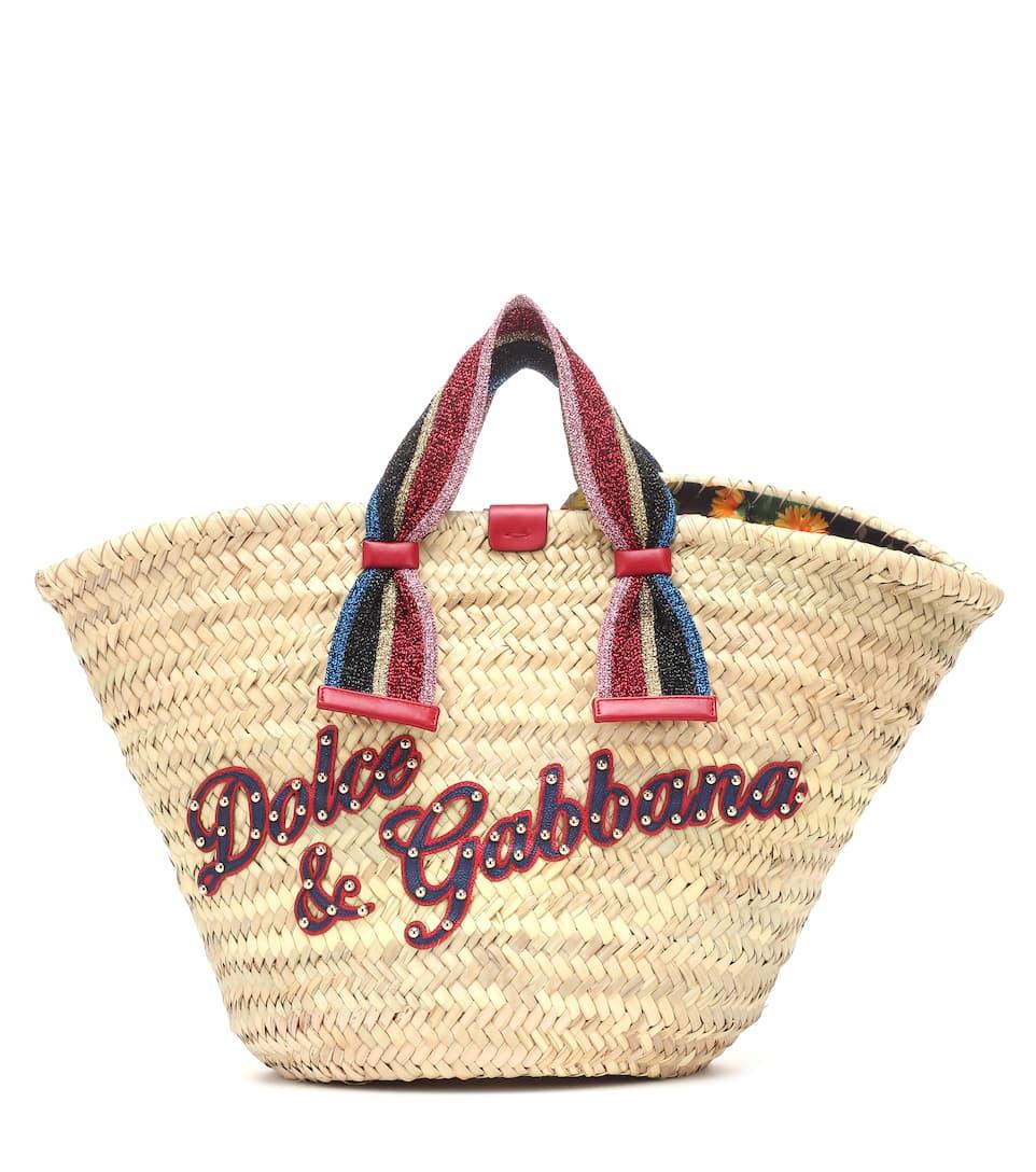 0a04c703f236 Kendra Straw Tote - Dolce   Gabbana