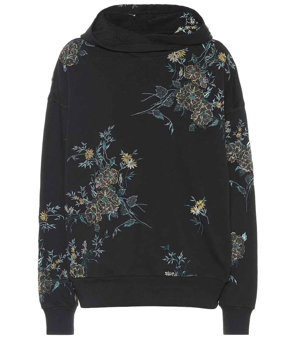 56f45852bf7d Floral Embroidered Cotton Hoodie - Dries Van Noten | mytheresa.com