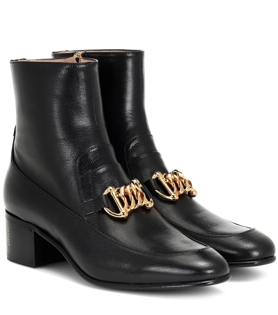 Gucci Ankle Boots D3v00 Horsebit-detail Black