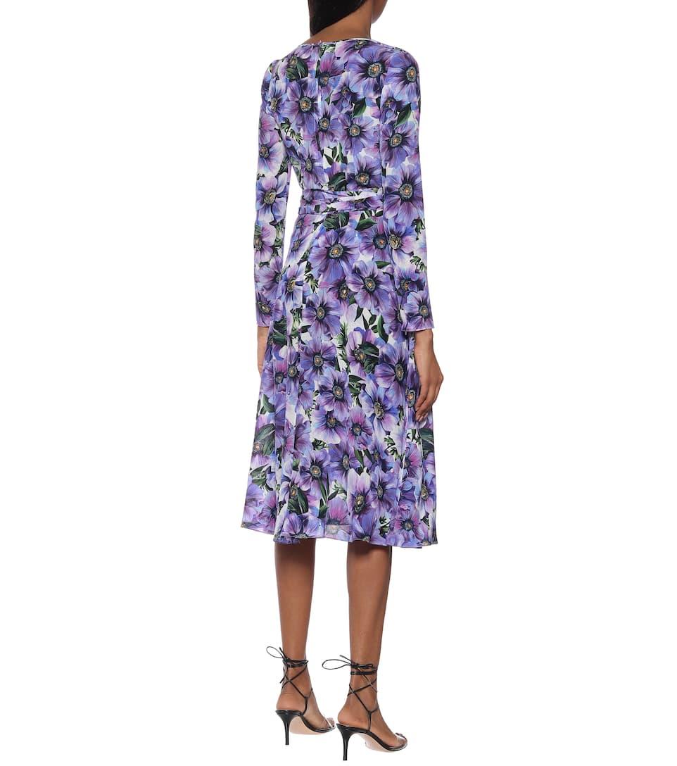 Dolce & Gabbana - Floral silk wrap dress