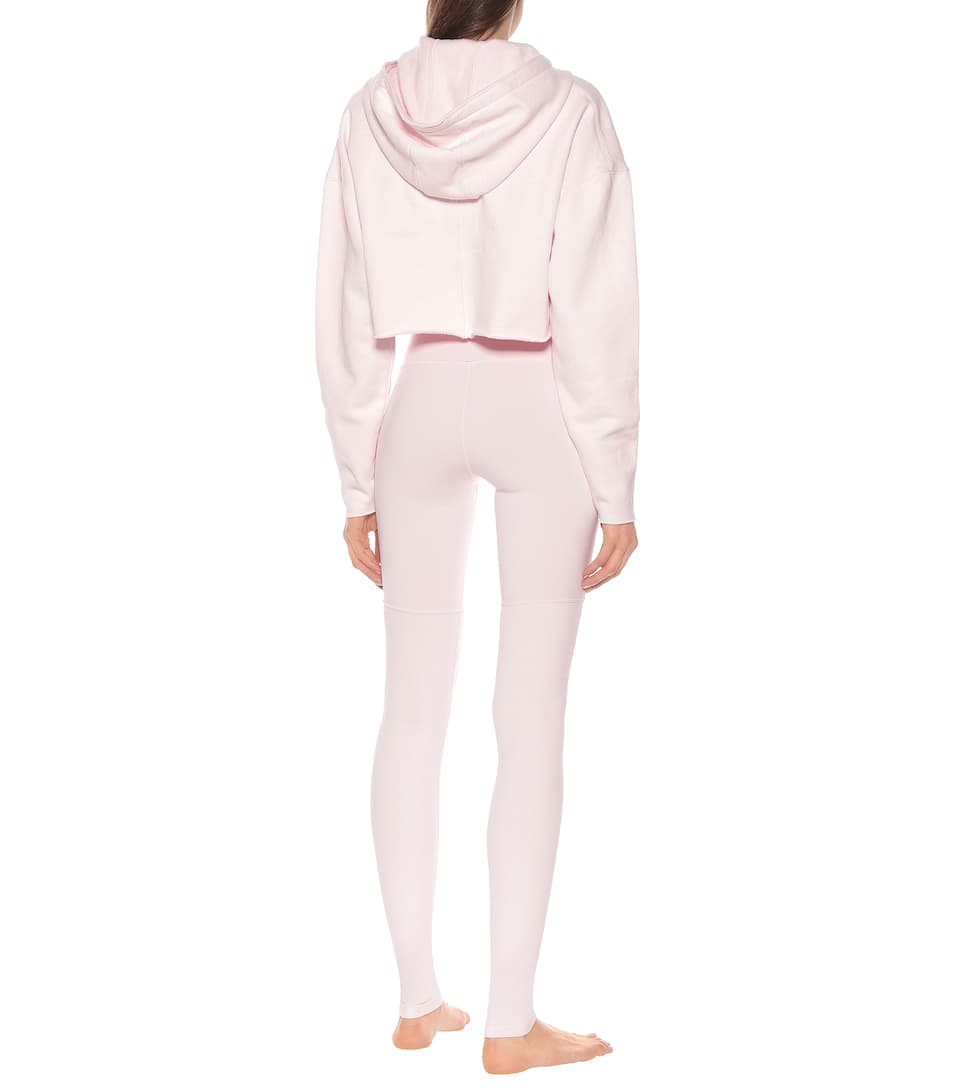 Alo Yoga - Edge cotton-blend cropped hoodie