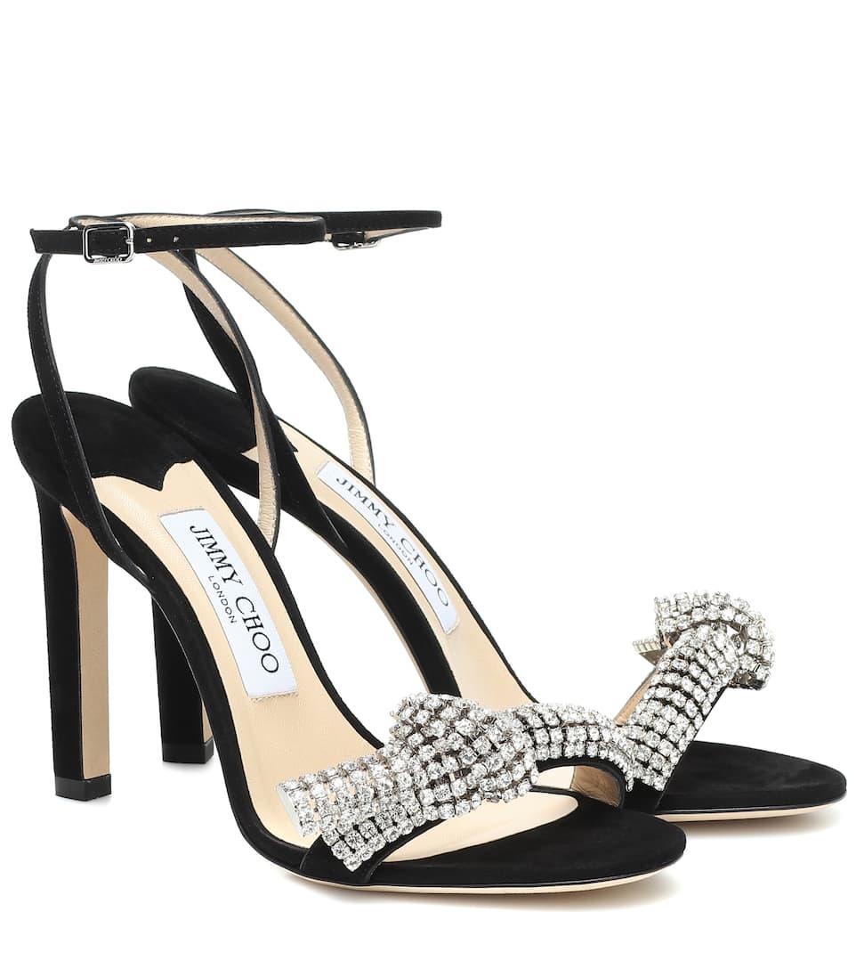 Thyra 100 embellished suede sandals