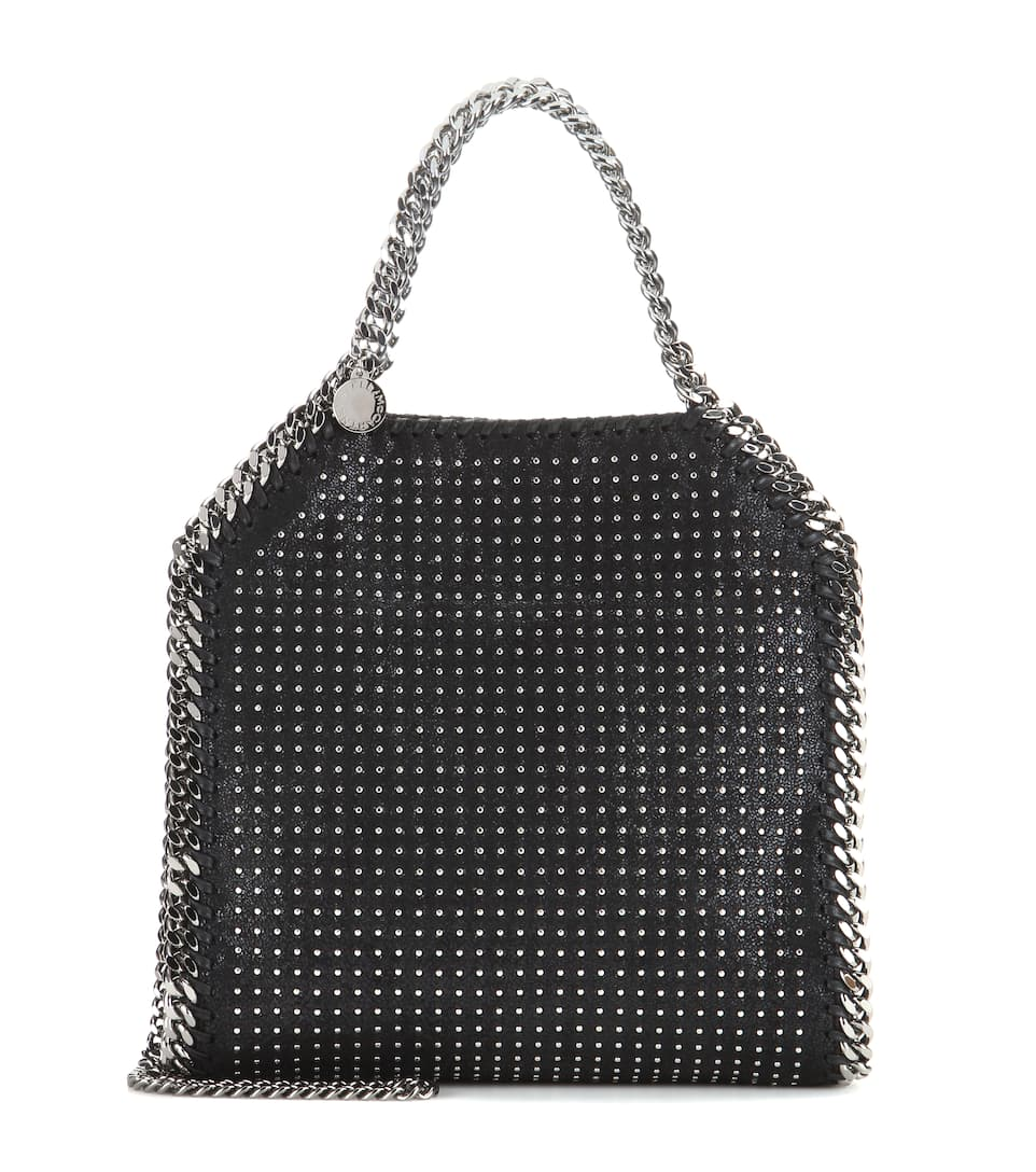 stella mccartney verzierte schultertasche falabella mini. Black Bedroom Furniture Sets. Home Design Ideas