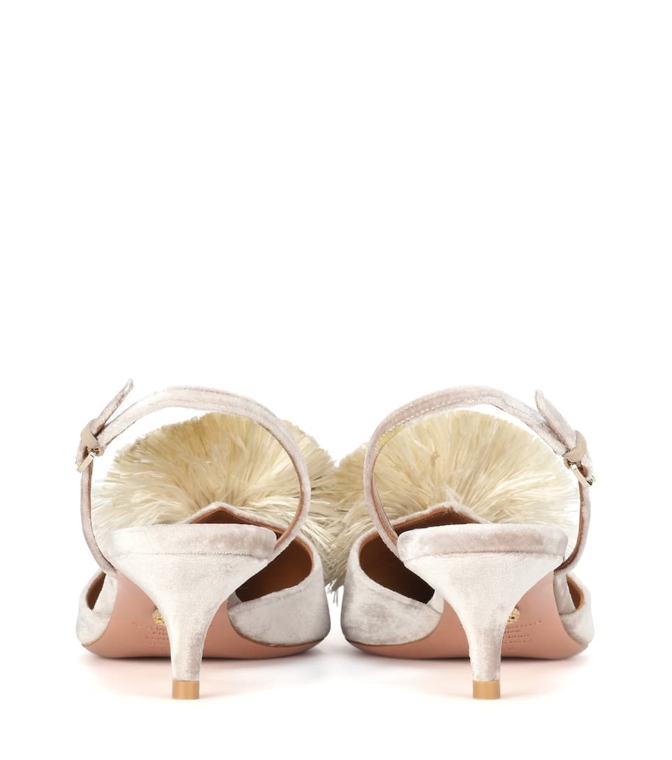 Aquazzura Pumps Powder Puff aus Samt