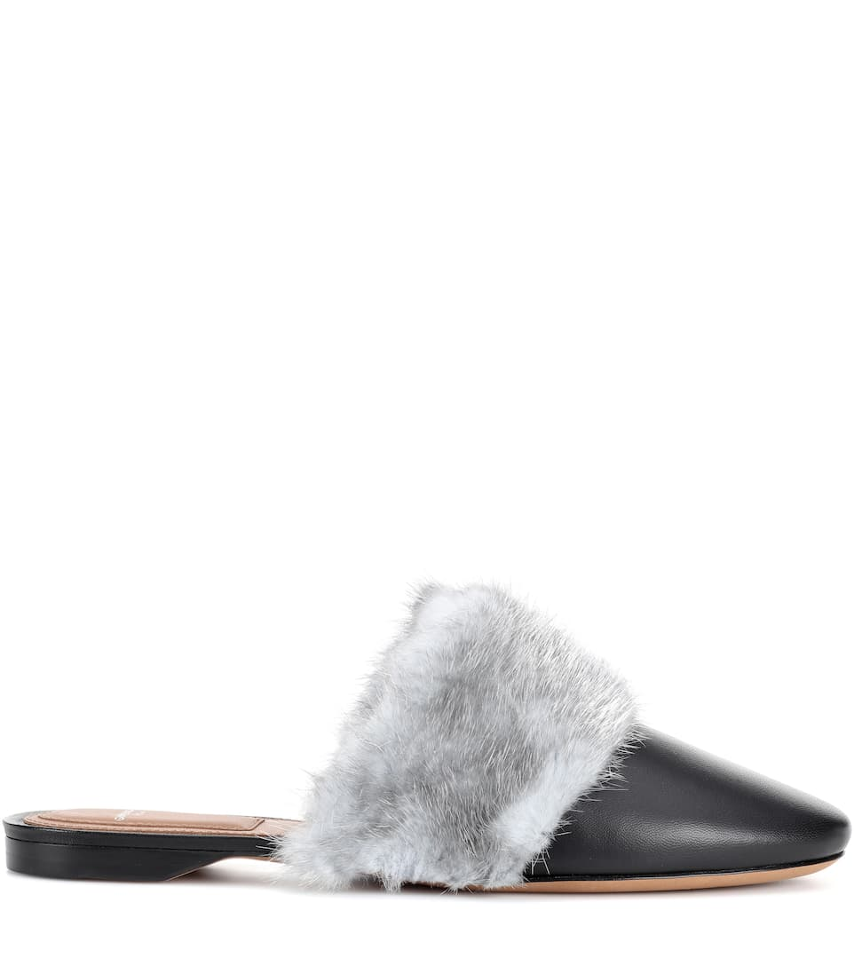 Givenchy Bedford fur-trimmed leather slippers Cheap Sale Visit Cost Cheap Authentic Clearance For Nice Footlocker Finishline Cheap Price q9O9F6b6