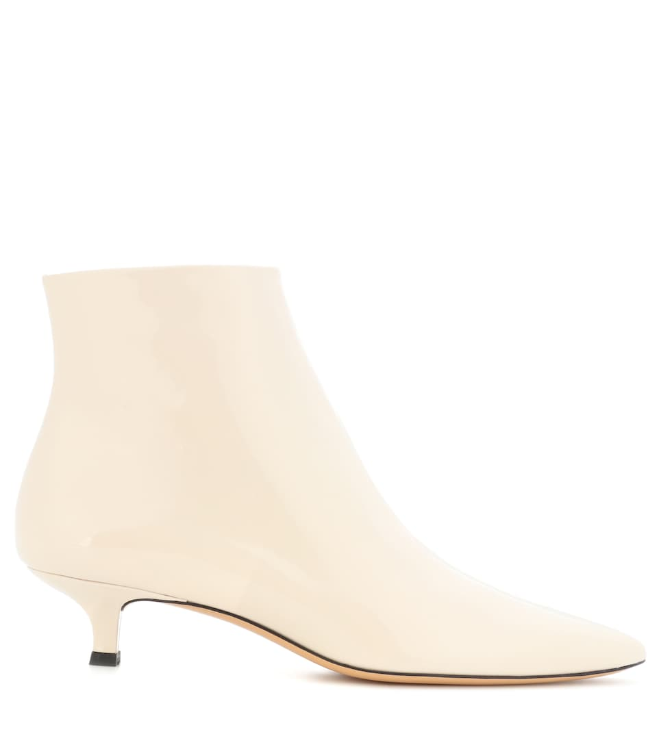 The Row Ankle Boots Coco aus Lackleder